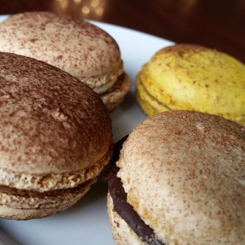 Chocolate variety french macaroons by Starlight-Redslate