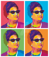 Umm Kulthum in Wedha's Pop Art Portrait ( WPAP ) by AdamKhabibi