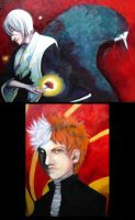 Bleach paintings by oneoftwo