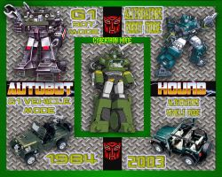 Autobot Hound Comparative by LittleBigDave