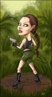Angelina Jolie Caricature by Makowh