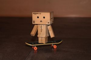 Danbo and his skateboard 2 by SweetSymphony94