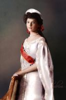 Grand Duchess Tatiana in court dress, 1911 by klimbims