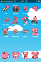 Gloomy Bear Sky iPhone Theme by sushi-geisha