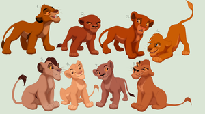 TLK and TLG Cubs Reserved Adoptables CLOSED by EyesInTheDark666