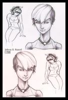 Females Sketches by MRHaZaRD