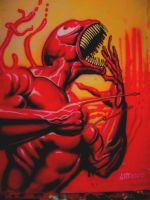 Carnage airbrush T by antgarcia