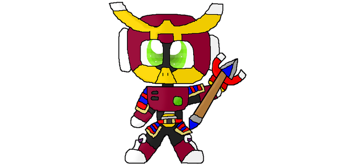 Magnet Man and Yamato Man fusion by Kittygames50
