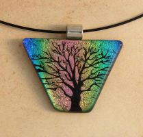 Tree of Life Rainbow Glass by FusedElegance