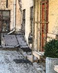 Back alley by ItsBugArt