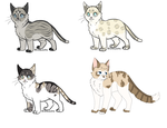 Cat adoptables plus old character for sale. by DynamicPanther
