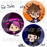TFP Halloween 2012 Buttons by TMNT-Raph-fan