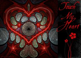 Touch My Heart - Red - Card by Golubaja