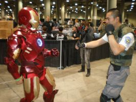 Invincible Iron Man vs the knife... by DarkSamuraiX1999