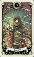 Tarot card 9- the Hermit by rann-poisoncage