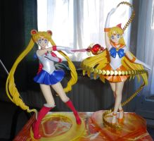 Sailor Moon and Saior Venus Figuarts Zero by ShaianWillems