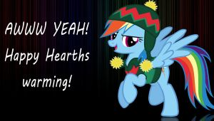 Happy Hearths  warming from Rainbow Dash! by Chaz1029