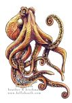Giant Pacific Octopus Tattoo Design by HeatherHitchman