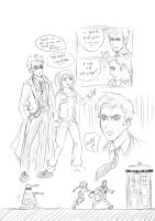 10th Doctor sketchdump by rain-and-sunshine