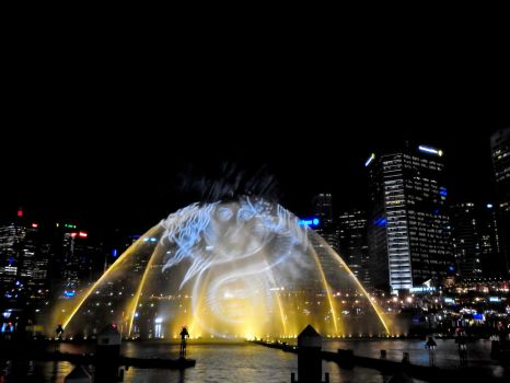 Vivid 33 water show darling harbour Sydney by hockeymask