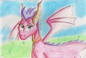 Ember the pink dragoness by IcelectricSpyro