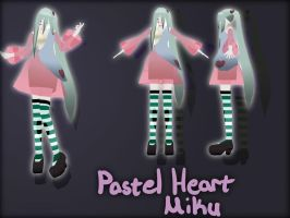 [MMD Newcomer] Pastel Heart Miku + Download by Calculated-Lie