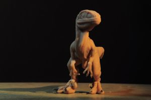 Baby Raptor Figure by Heliot8