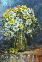 flowers in a glass vase by ENERGIA1