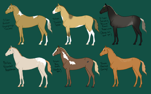 Horse Design Adoptables by theRyanna