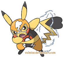 Pikachu Libre by Volmise