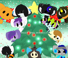 2012 Happy Holidays (Re-Uploaded) by CocoaAkeelahKitten