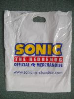 Sonic Merchandise Plastic Bag by BoomSonic514