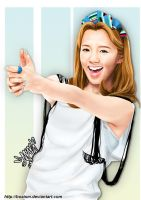 Hyoyeon Digital Painting 5 by BoAism