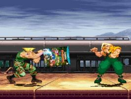 Guile uses his Sonic Boom. by Roro102900