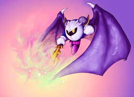 AT meta knight by GasMaskMonster