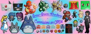 Commissions Banner - 01 by Snow-Storm-Wanderer
