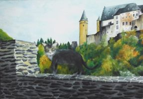Trisha and the castle by v-Sovereign
