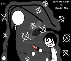 Jeff the Killer vs Slender Man by LizaNny