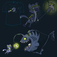 Woot Shirt - Go Toward The Light by fablefire