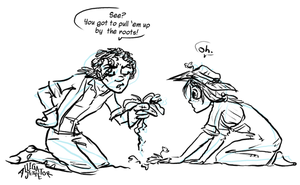 Gardening with Fitzroy by Alligator-Jesie