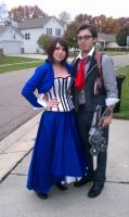 BioShock Booker and Elizabeth by aakahasha