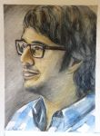 Josh Groban watercolour by Schnellart