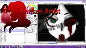 Artwork Wip Preview: Were all mad here by AnimeEmm