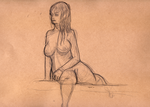 Figure drawing at the old convent 5 by Cruxia
