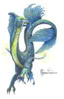Sea Serpent (Watercolor) by PawsShiEng