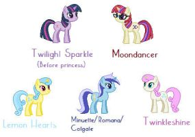 Twilight with her friends before she moved by Donttouchmykitty