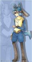 Lucario human :coloured: by SS-Chan