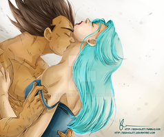 DBZ - Vegebul - Intimate moments 2 by RedViolett