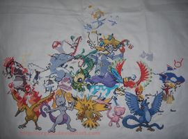 Legendary Pokemon x stitch WIP by IzzyXIII