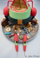 Mr Krabs......after! by ginas-cakes